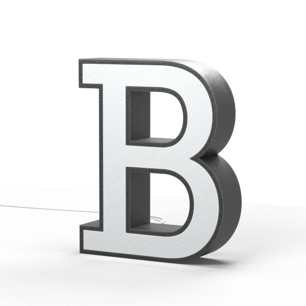 Der Buchstabe B als Leuchtbuchstabe