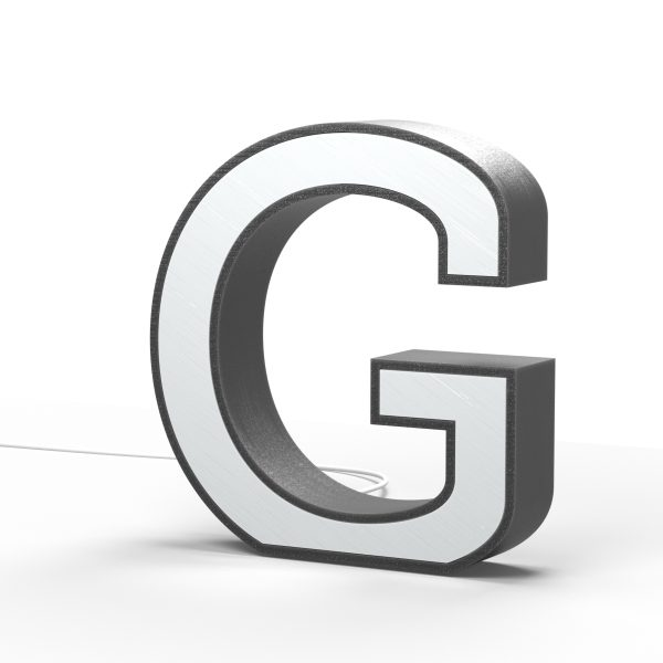 Der Buchstabe G als Leuchtbuchstabe