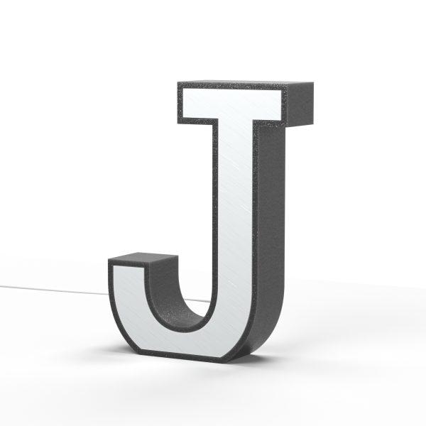 Der Buchstabe J als Leuchtbuchstabe